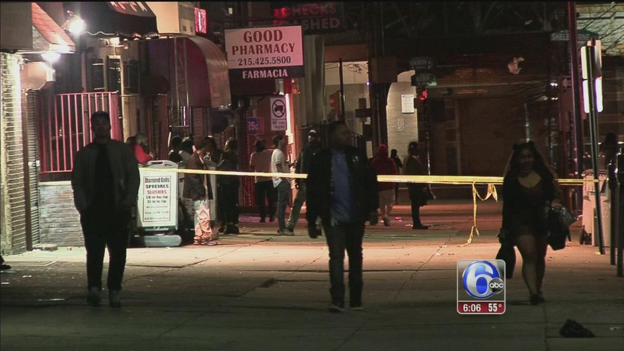 Man shot 12 times outside North Philadelphia bar