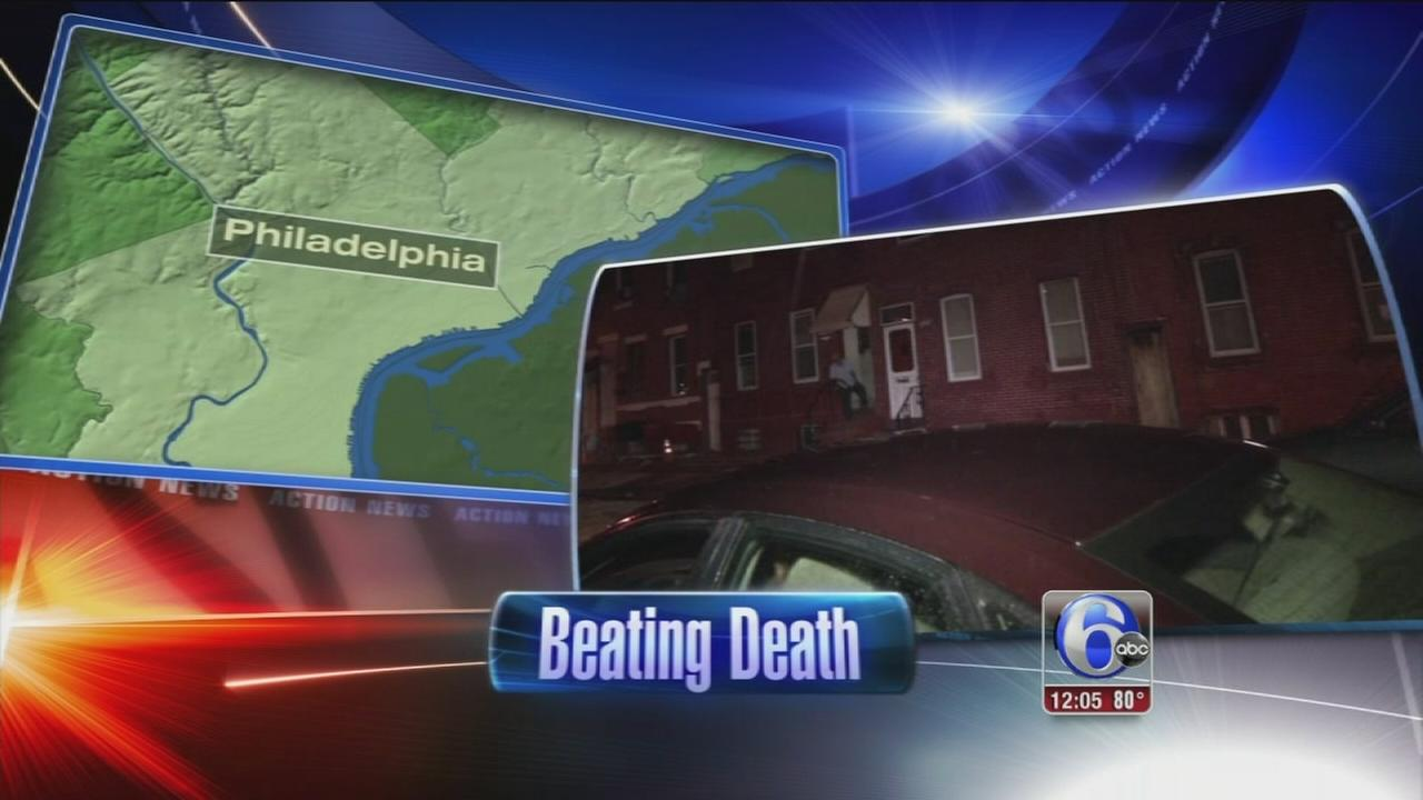 VIDEO: Man beaten to death outside North Phila. home