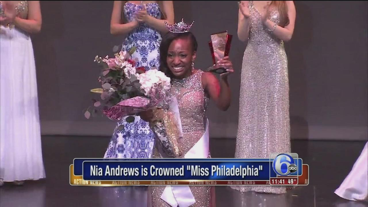 Nia Andrews crowned Miss Philadelphia