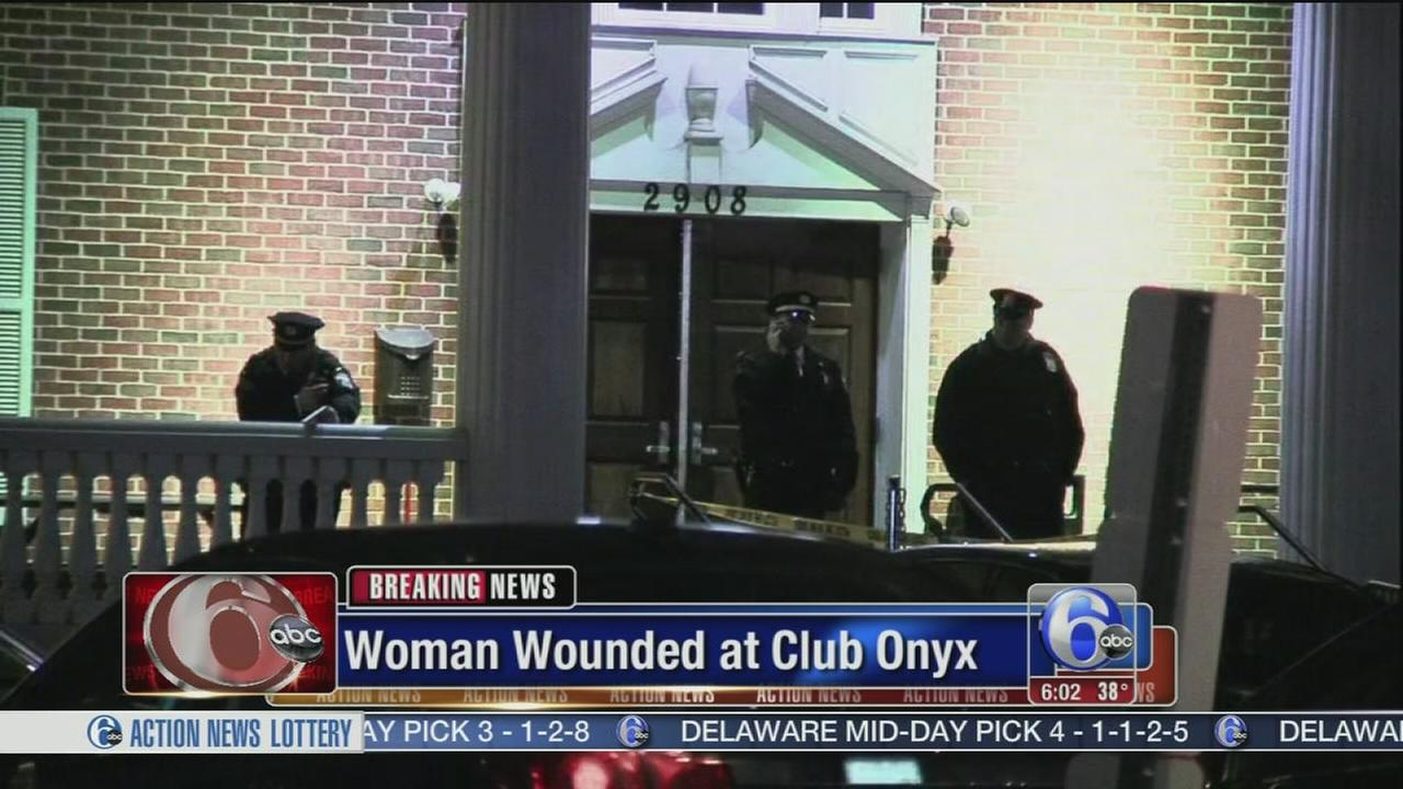 Woman wounded at Club Onyx