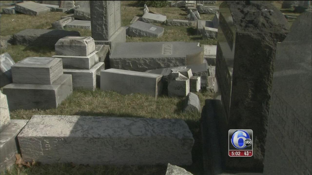 More than 500 headstones damaged at Philadelphia Jewish cemetery
