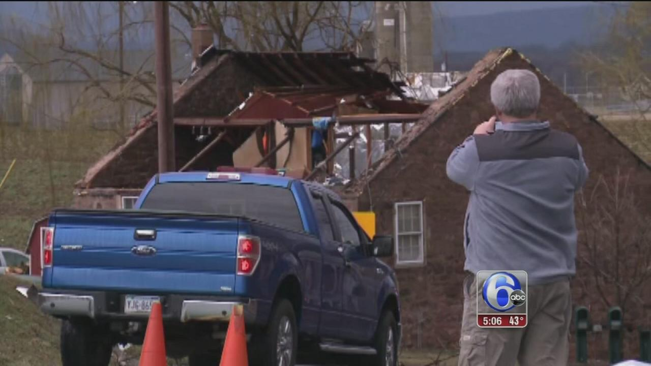 Tornado, straight-line winds cause damage in Pennsylvania