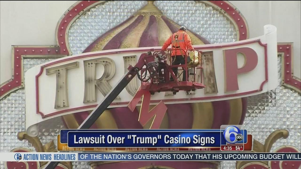 Companies head to court over casinos Trump signs