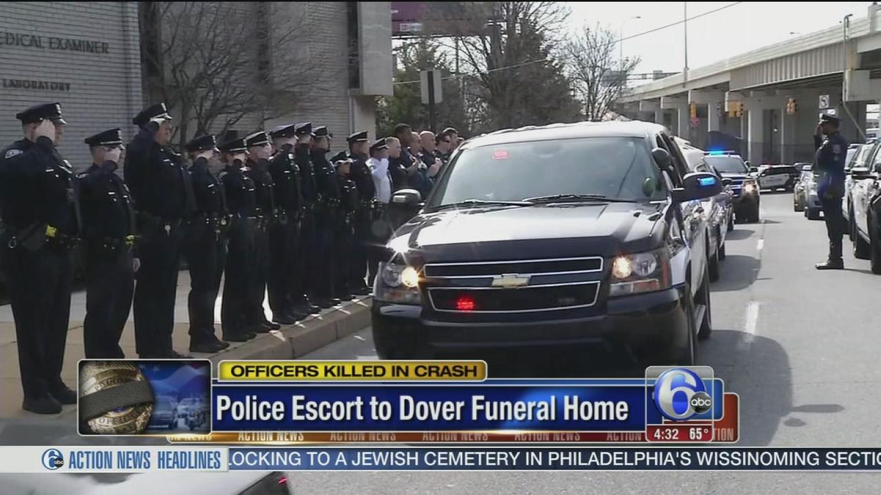 Salute for 2 Dover police officers killed in crash