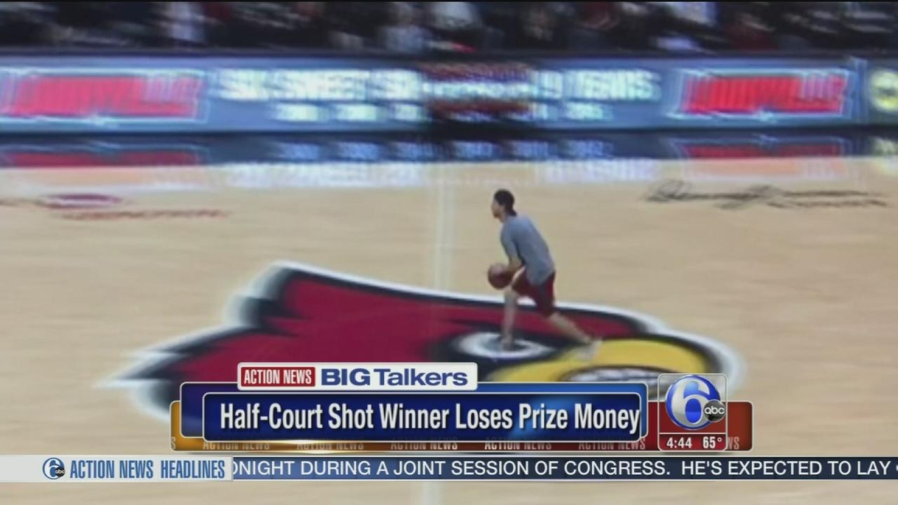 Student makes half-court shot, doesnt win prize
