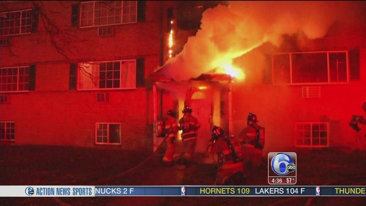 Fire damages Delaware apartment building