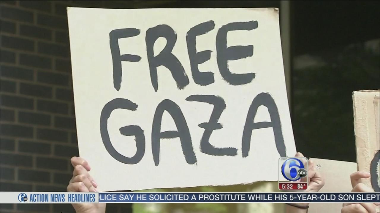 VIDEO: Rallies in Center City over Gaza attacks