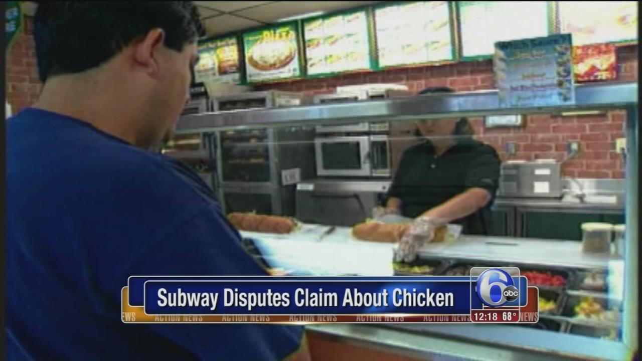 Subway disputes claim about chicken