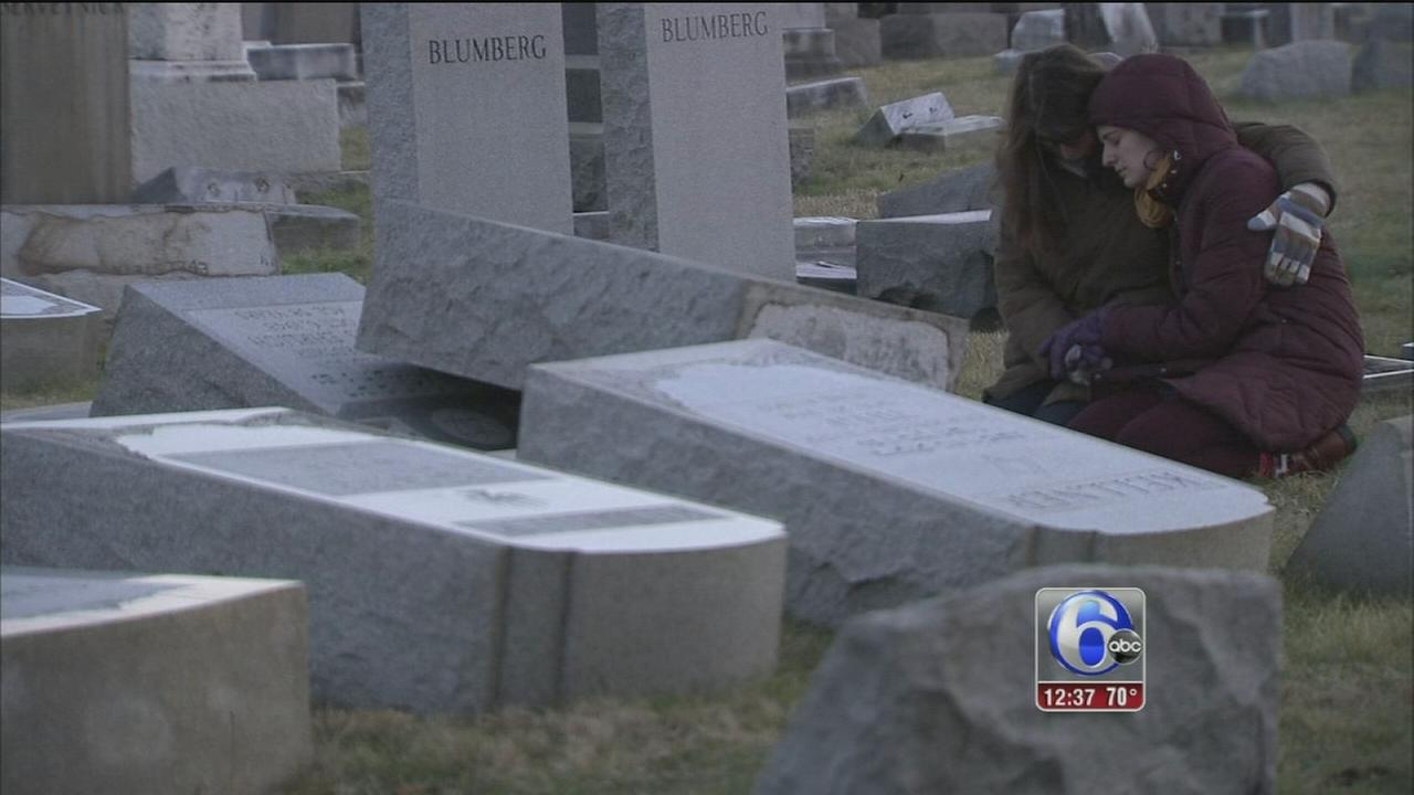 Volunteers continue to repair damage at Jewish cemetery
