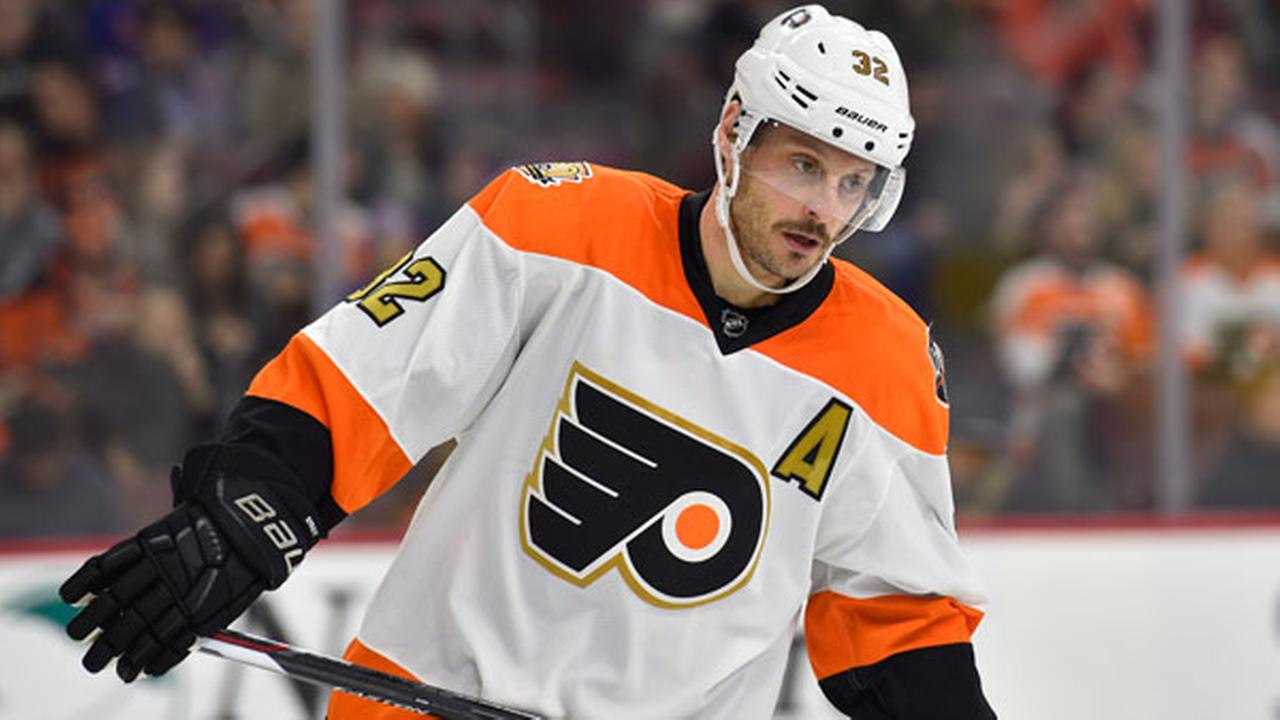 Philadelphia Flyers Mark Streit in action during an NHL hockey game against the New York Rangers, Friday, Nov. 25, 2016, in Philadelphia.