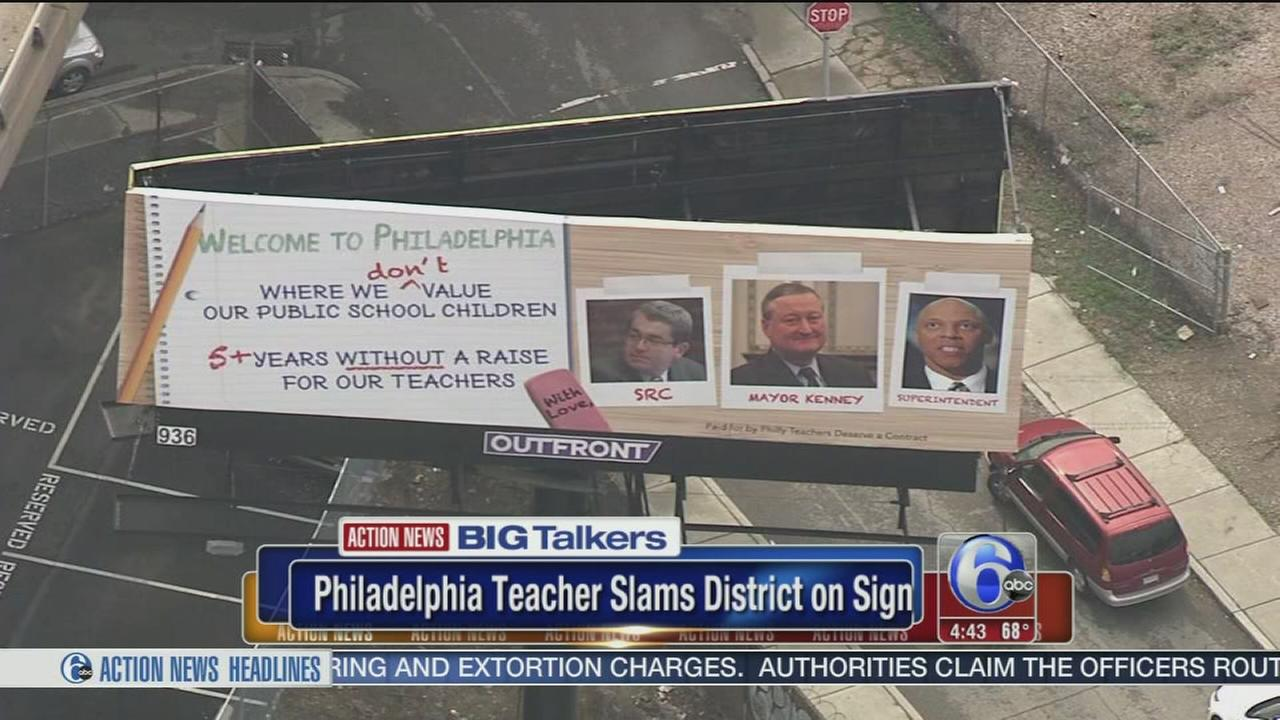 Phila. teacher slams school district with crowdfunded billboard