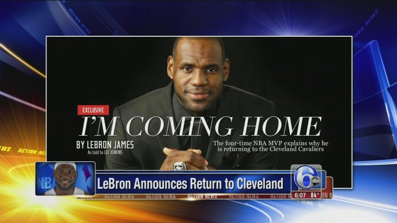 VIDEO: LeBron James returning to Cleveland Cavaliers