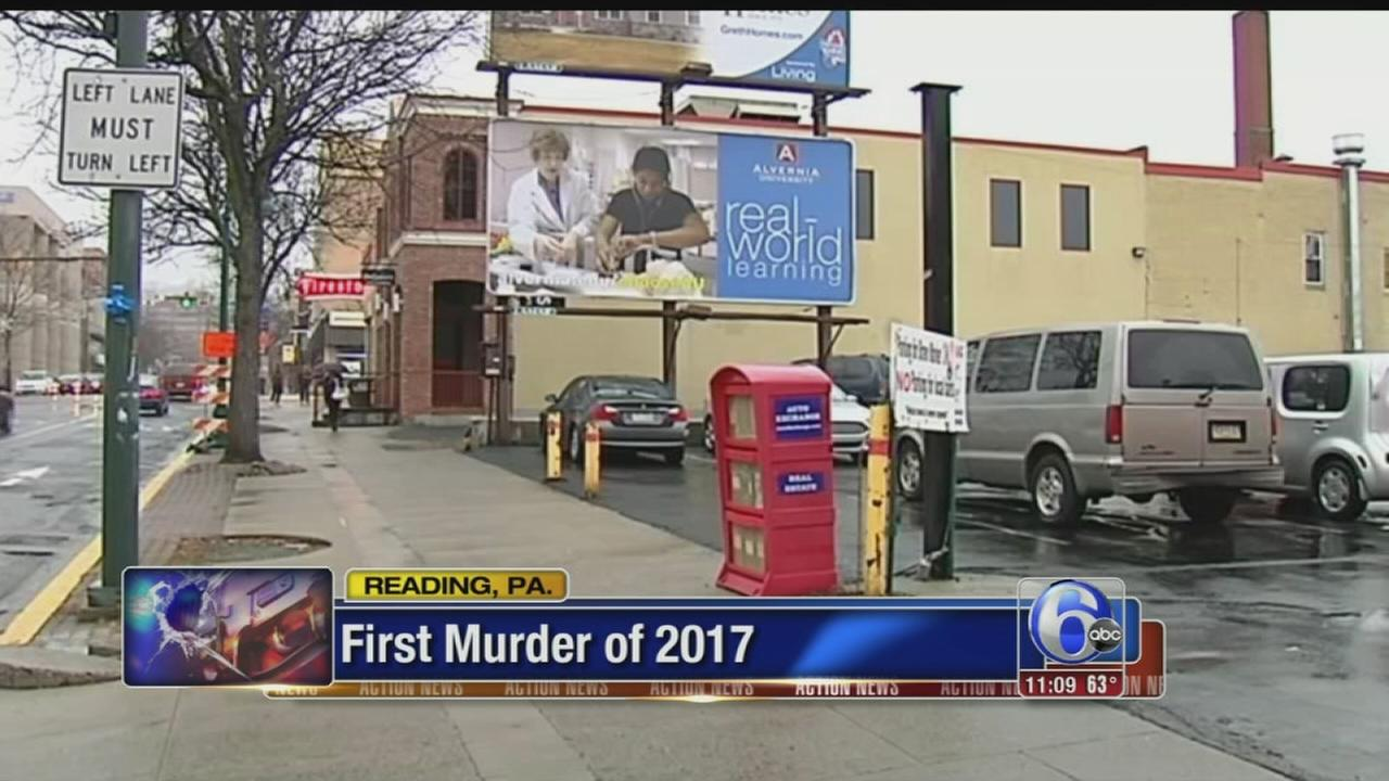 Police investigating 1st murder of year in Reading, Pa.