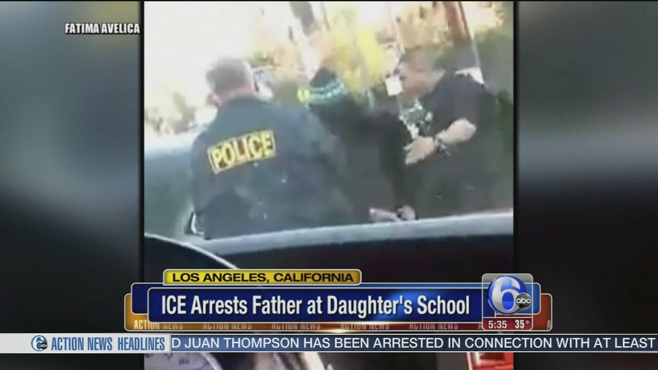 VIDEO: ICE arrests father at daughters school