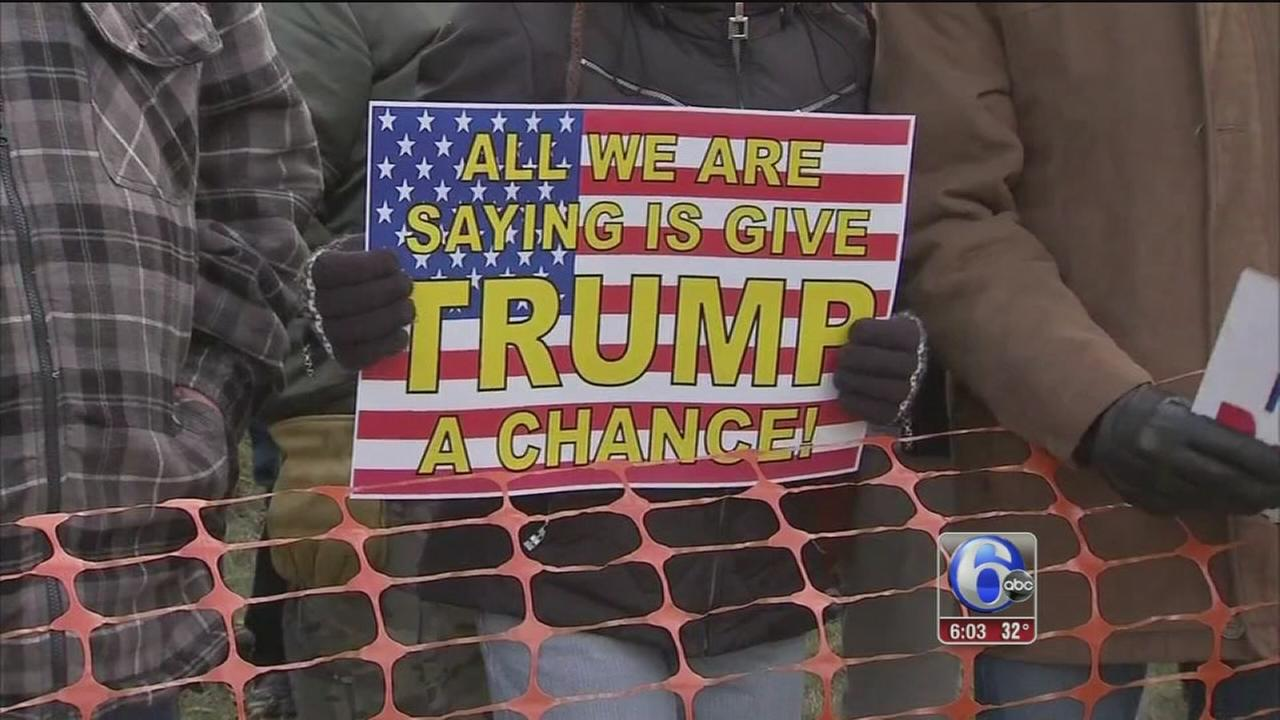 Supporters rally for President Trump in Bensalem