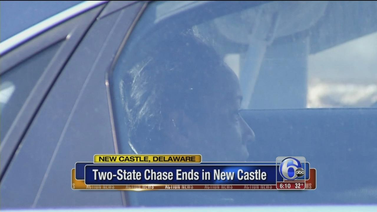 Police chase involving stolen airport van ends in Del.