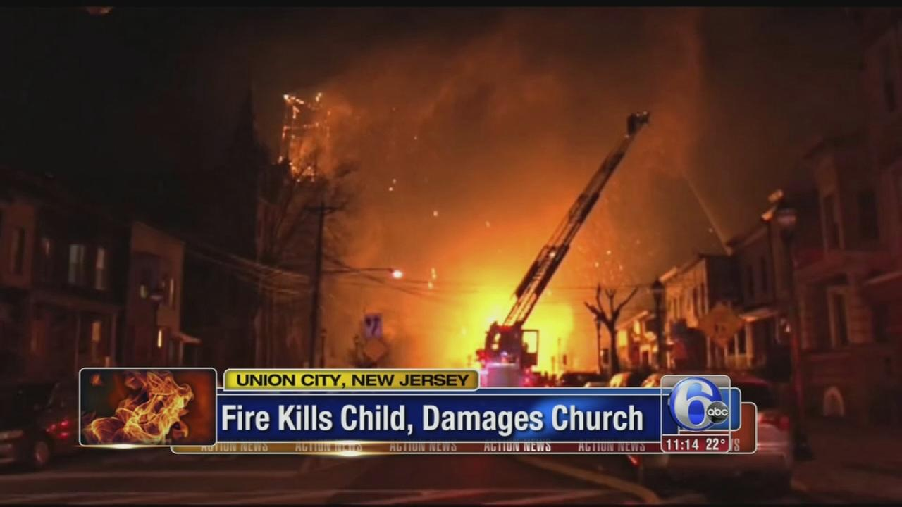 Video captures massive North Jersey fire; child killed