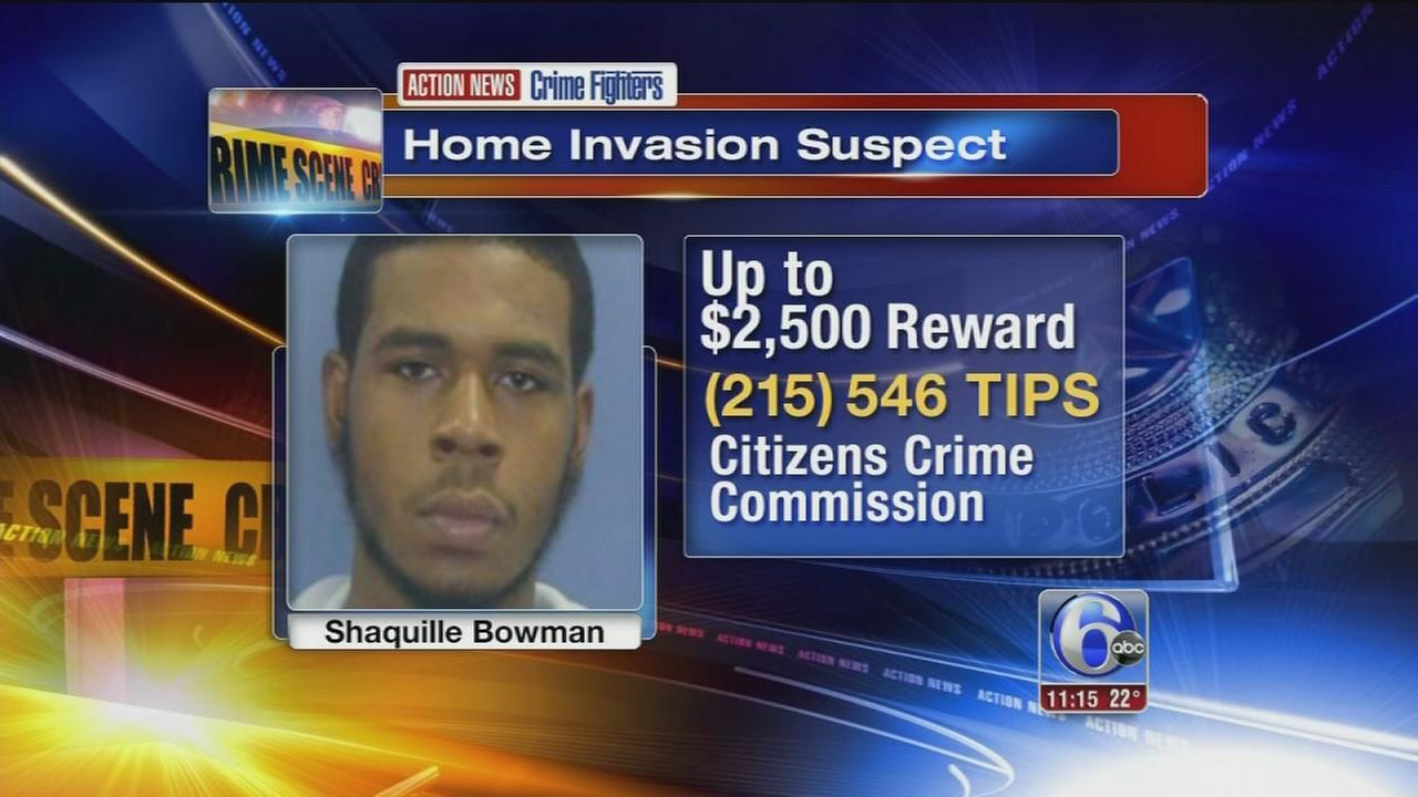 Crime Fighters: Suspect sought in Delco home invasion, shooting