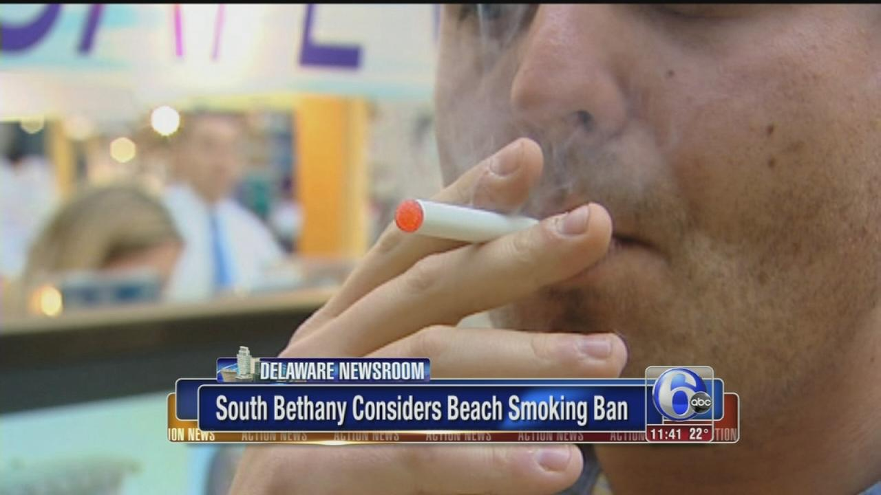 Last Del. beach town without smoking ban may add one