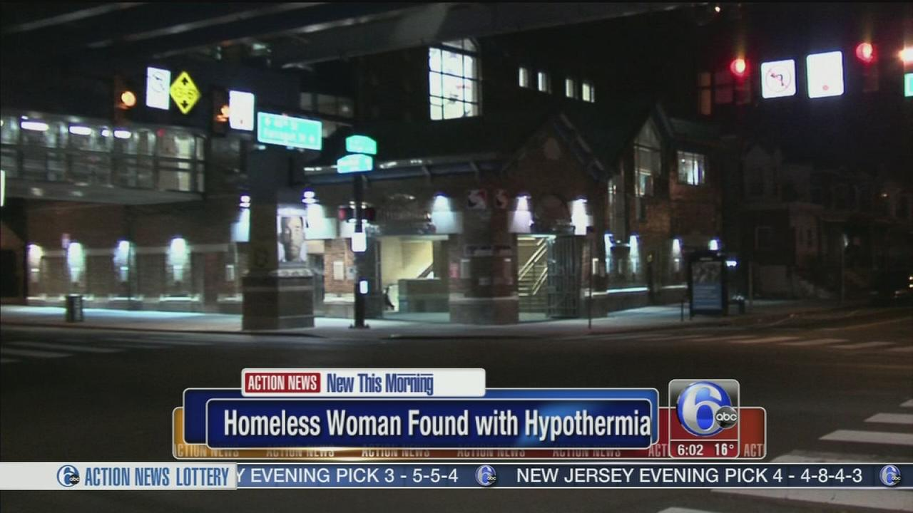 Homeless woman found with hypothermia