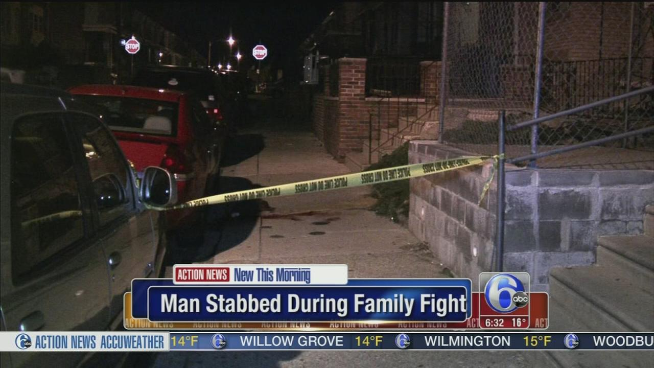 Man stabbed during family fight