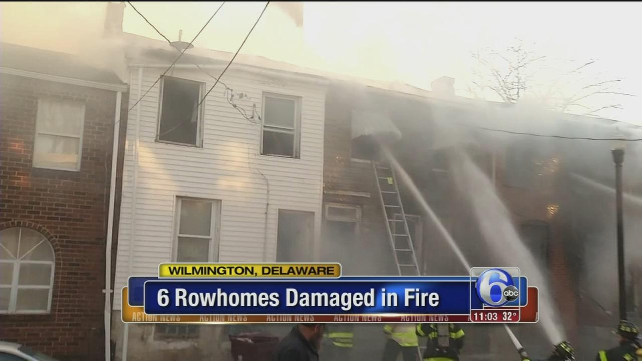 6 row homes damaged in Wilmington fire
