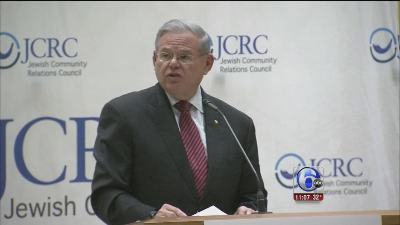 Sen. Bob Menendez speaks out against recent acts of anti-Semitism
