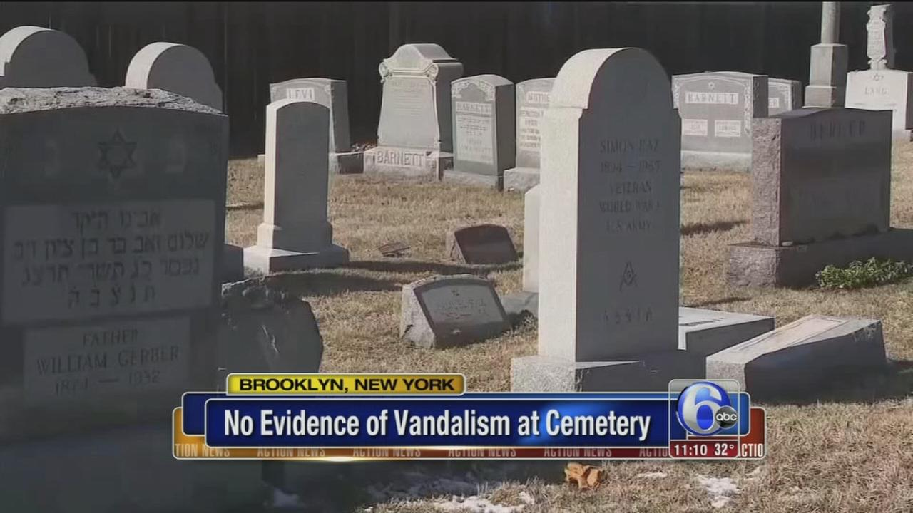 NYPD: No evidence of vandalism at largely Jewish cemetery