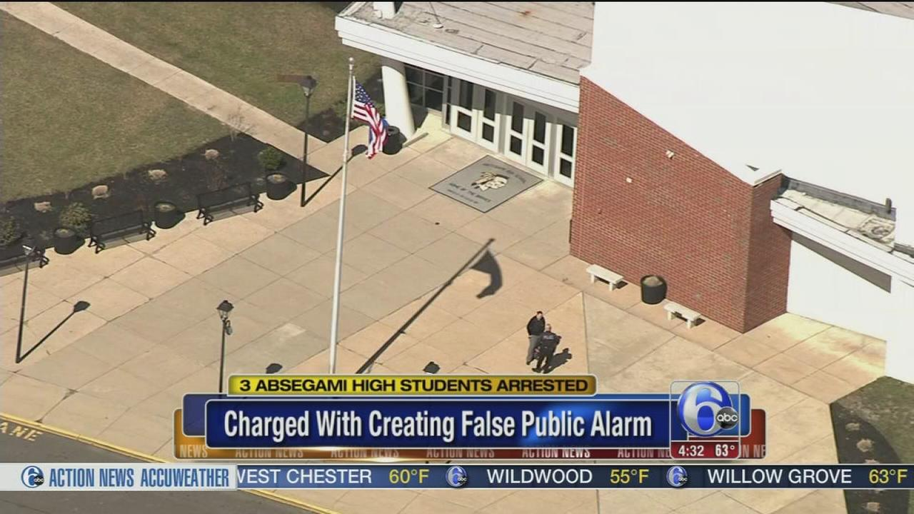 3 students charged with creating false public alarm