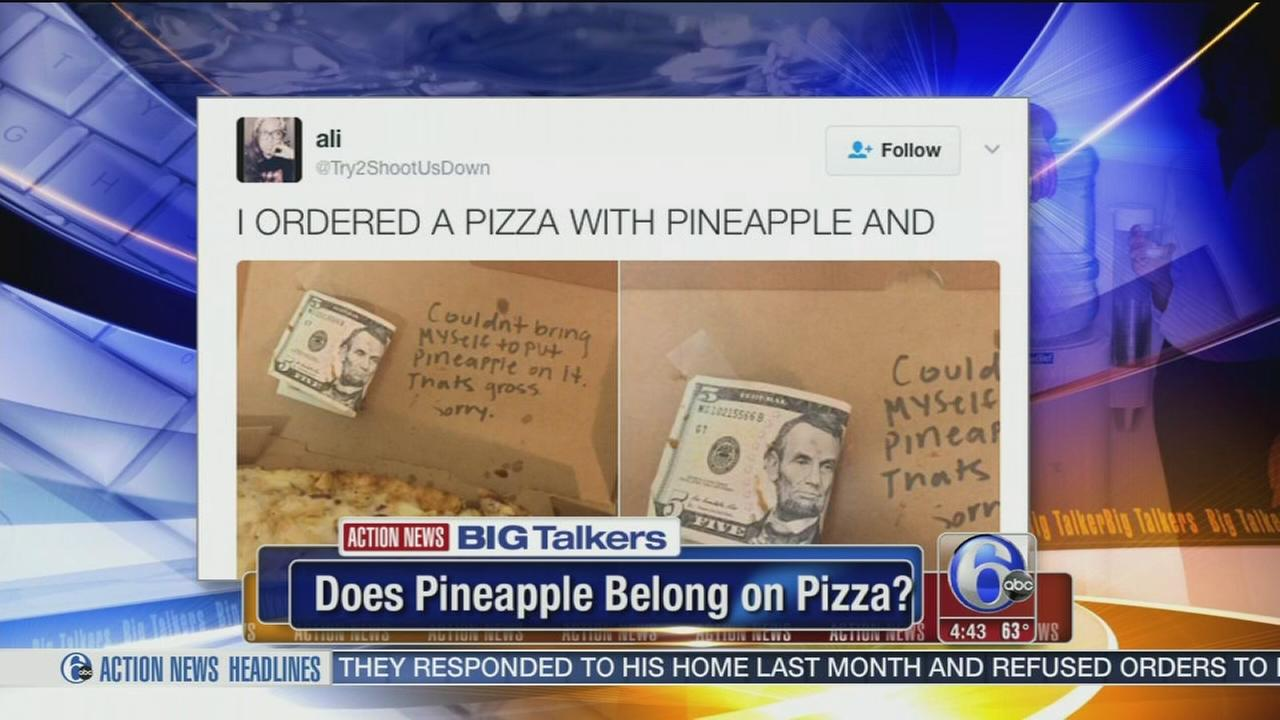 Great topping debate: Do you like pineapple on your pizza?