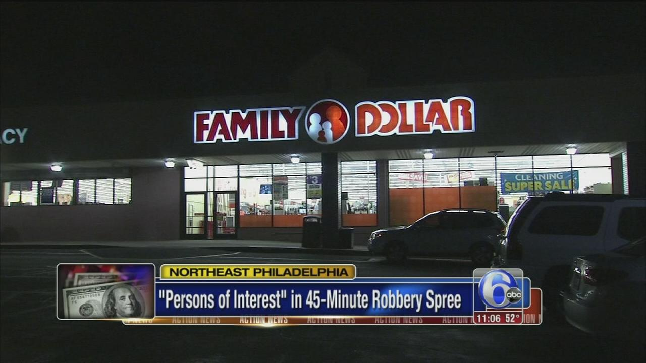 Persons of interest in 45-minute robbery spree in NE Philly