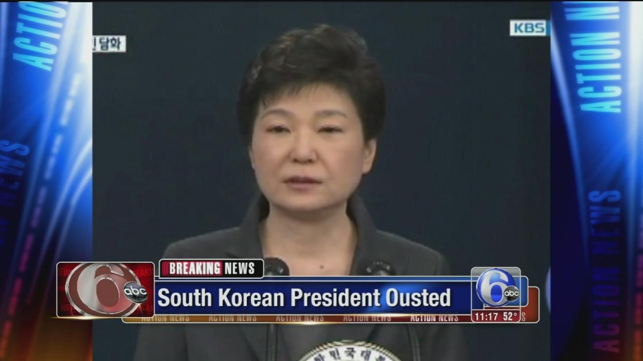 South Koreas president formally ousted by court