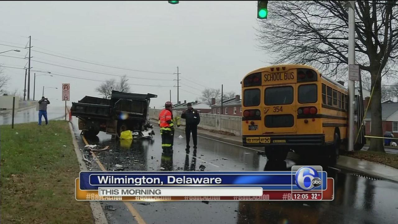 School bus crash in Wilmington, Del.