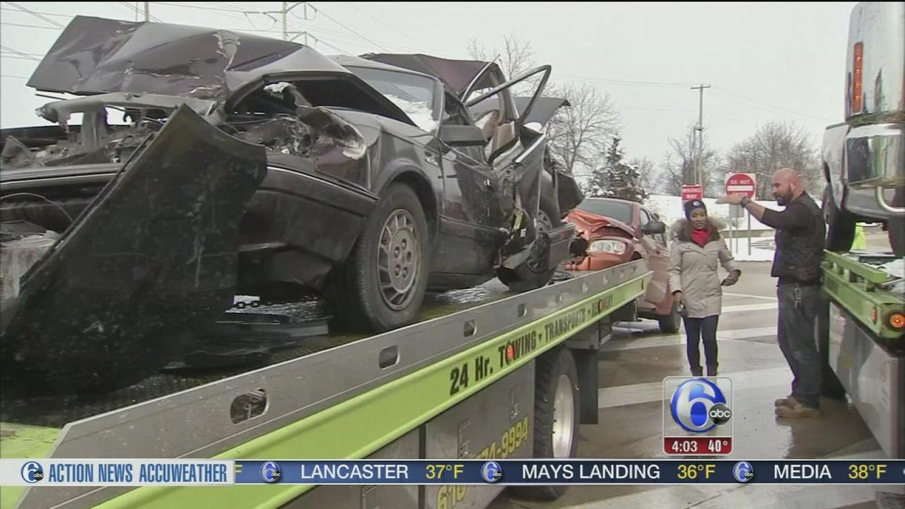 VIDEO: 7 cars collide on NE Extension
