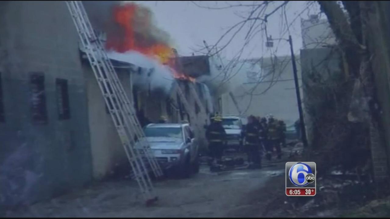 Firefighters battle 3-alarm blaze at West Phila. carpet business