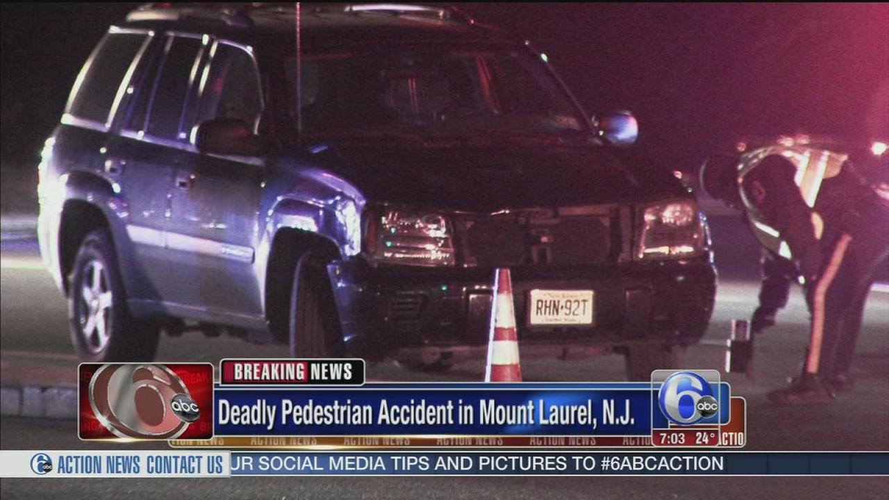 Pedestrian struck, killed in Mount Laurel, N.J.