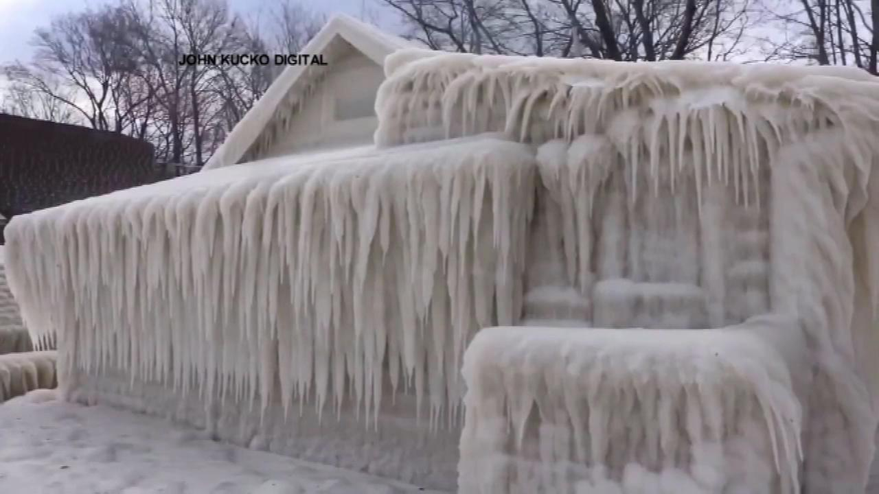House freezes over in Upstate New York