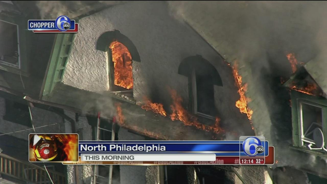 2 hurt in North Philadelphia fire