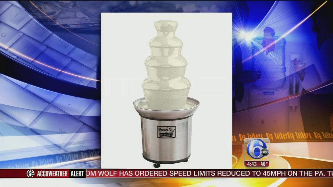 Hidden Valley selling ranch dressing fountain