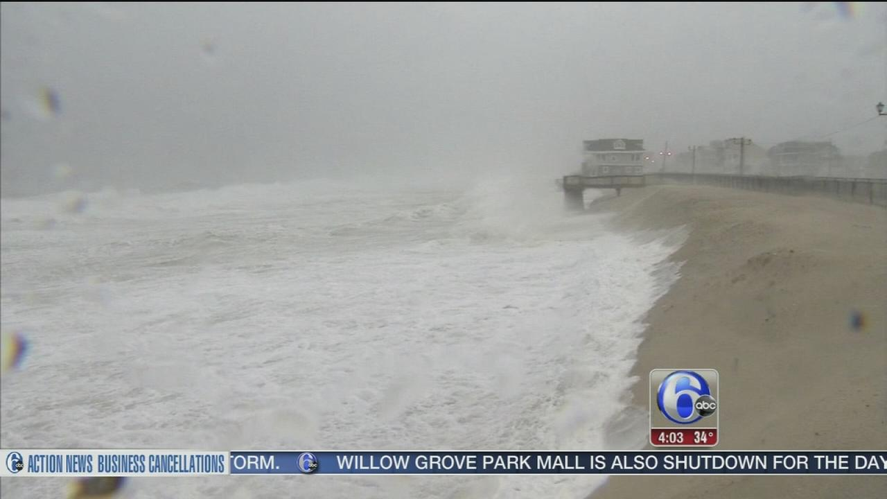 Noreaster brings wind, flooding, beach erosion to NJ shore