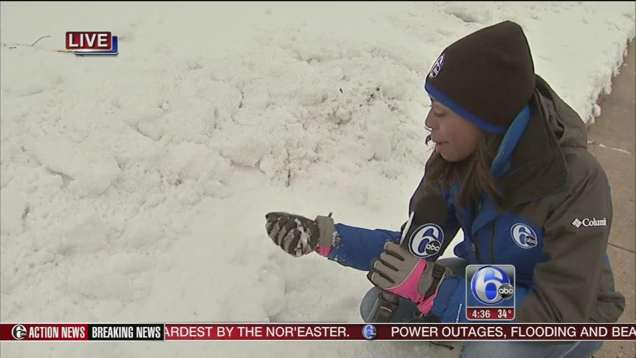 Melissa Magee updates storm outside 6abc studios