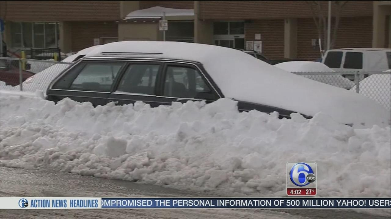 Snow, slush becomes an icy problem in Reading, Pa.