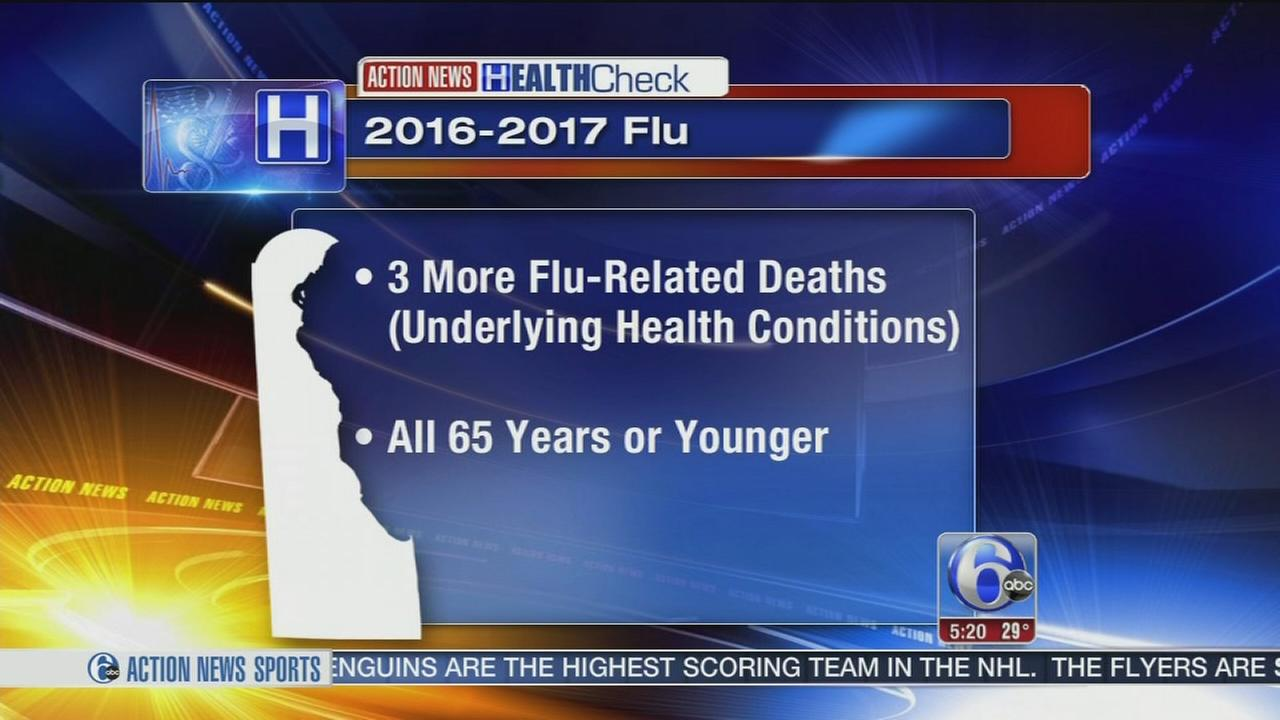 Delaware officials report 3 more flu deaths
