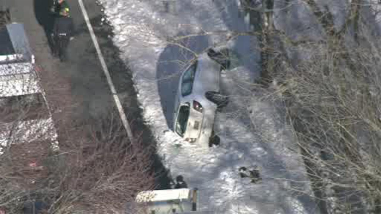 Bucks County fire rescue crews responded to the scene of an accident in Bensalem.