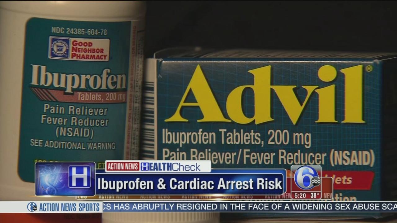 Sudy links increased risk of cardiac arrest with ibuprofen