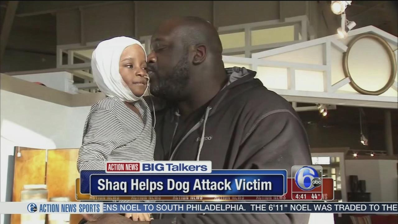 Shaquille ONeal surprises dog attack victim in Georgia