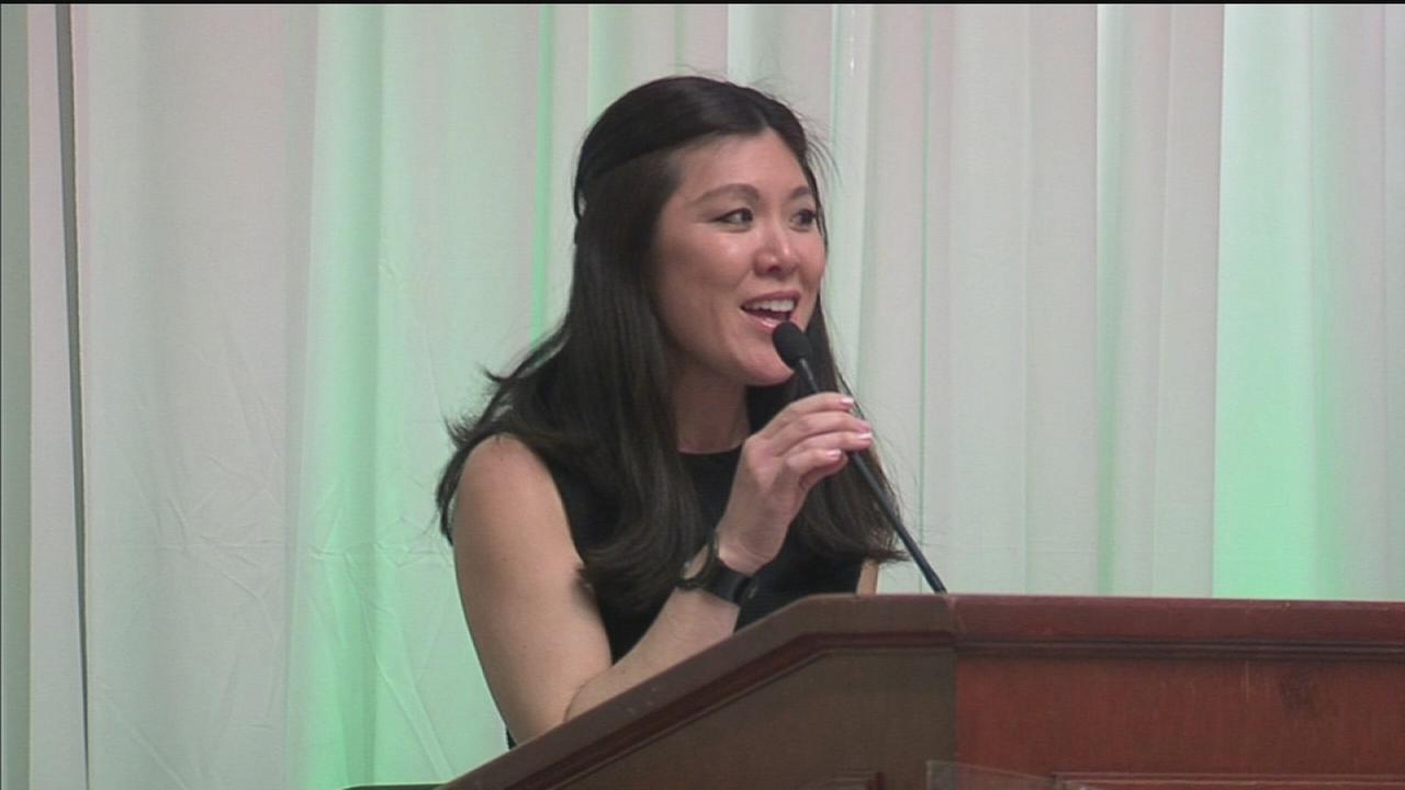Nydia Han emcees community honors luncheon
