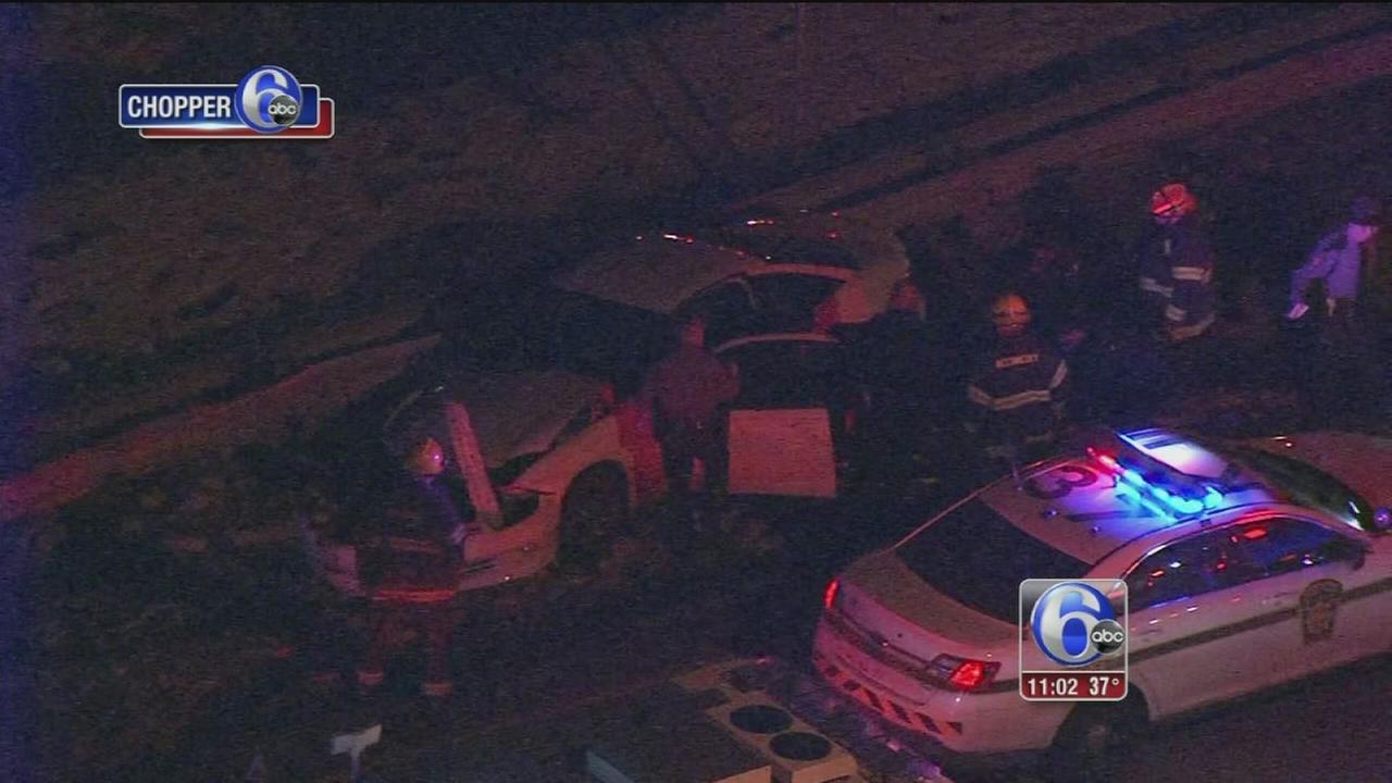 Man, woman injured in I-95 crash in NE Philadelphia