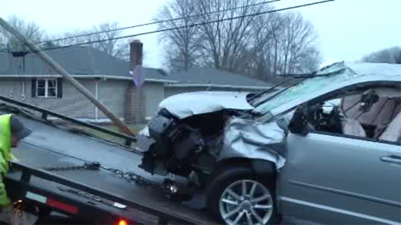 Police are investigating an accident involving an overturned vehicle in Pennsville, New Jersey.