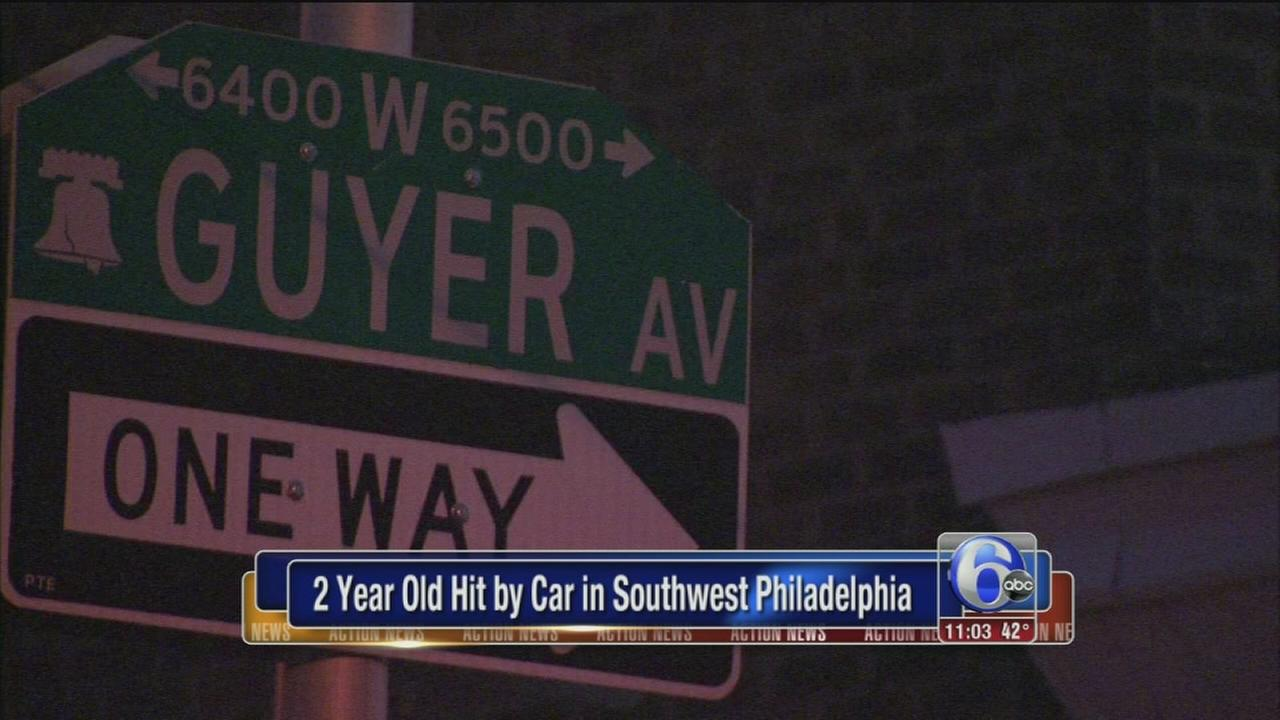 Toddler struck by hit-and-run driver in SW Philadelphia